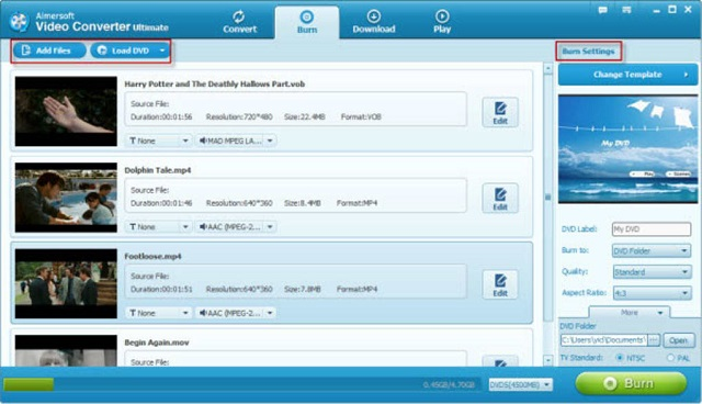Aimersoft Video Converter Ultimate.